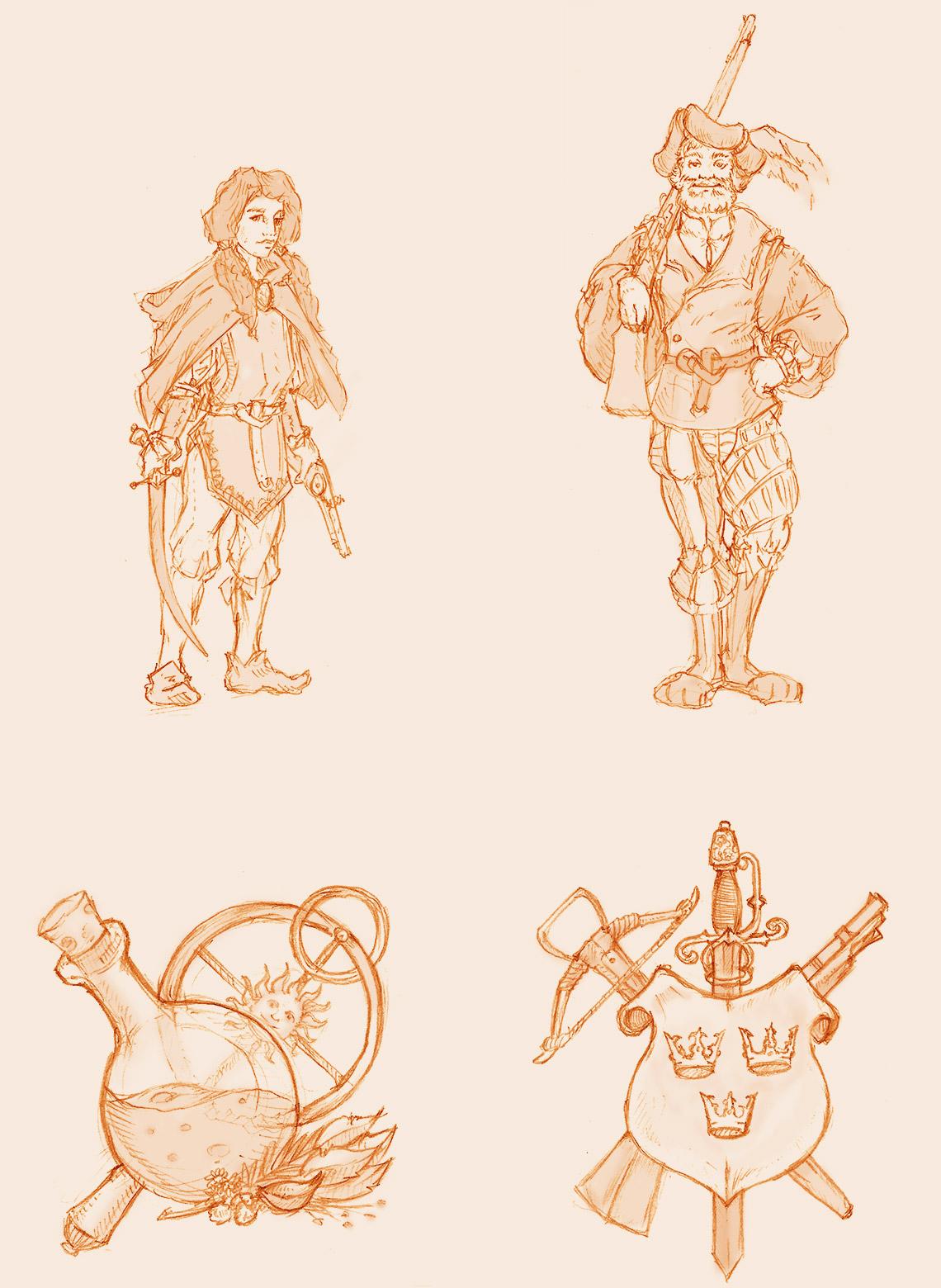 Små illustrationer